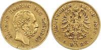 5 Mark Gold 1877  E Sachsen Albert 1873-1902. Stempelfehler, sehr schön  575,00 EUR free shipping
