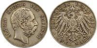 2 Mark 1901  E Sachsen Albert 1873-1902. Winz. Randfehler, sehr schön +  75,00 EUR  zzgl. 4,00 EUR Versand
