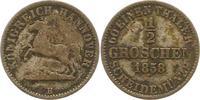 Braunschweig-Calenberg-Hannover 1/2 Groschen 1858  B Fast sehr schön Geo... 5,00 EUR  zzgl. 4,00 EUR Versand