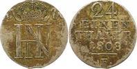 Westfalen, Königreich 1/24 Taler 1808  F Sehr schön + Hieronymus Napoleo... 42,00 EUR  zzgl. 4,00 EUR Versand