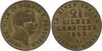 Brandenburg-Preußen 2 1/2 Silbergroschen 1843  A Sehr schön Friedrich Wi... 14,00 EUR  zzgl. 4,00 EUR Versand