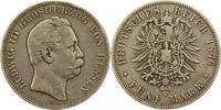 5 Mark 1876  H Hessen Ludwig III. 1848-1877. Schön - sehr schön  80,00 EUR  zzgl. 4,00 EUR Versand