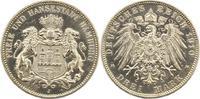 3 Mark 1910  J Hamburg  Zapponiert, vorzüglich aus Polierte Platte  145,00 EUR