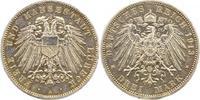 3 Mark 1913  A Lübeck  Winz. Henkelspur, zapponiert, sehr schön  100,00 EUR