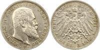 3 Mark 1911  F Württemberg Wilhelm II. 1891-1918. Gereinigt, sehr schön  16,00 EUR