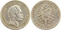 2 Mark 1876  H Hessen Ludwig III. 1848-1877. Schön  115,00 EUR