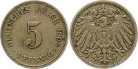 5 Pfennig 1909  F Kleinmünzen  Sehr schön  7,00 EUR