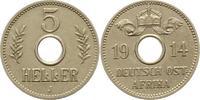 5 Heller 1914  J Deutsch Ostafrika  Vorzüglich +  65,00 EUR