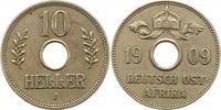 10 Heller 1909  J Deutsch Ostafrika  Sehr schön  20,00 EUR