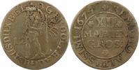 Braunschweig-Wolfenbüttel 12 Mariengroschen 1674 Zapponiert, fast sehr s... 30,00 EUR  zzgl. 4,00 EUR Versand