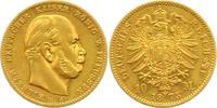10 Mark Gold 1873  A Preußen Wilhelm I. 1861-1888. Vorzüglich +  225,00 EUR  +  4,00 EUR shipping