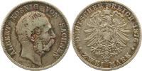 2 Mark 1876  E Sachsen Albert 1873-1902. Schöne Patina. Schön - sehr sc... 55,00 EUR  zzgl. 4,00 EUR Versand