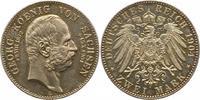2 Mark 1904 Sachsen Georg 1902-1904. Vorzüglich - Stempelglanz  75,00 EUR  zzgl. 4,00 EUR Versand