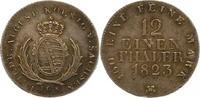 1/12 Taler 1823 Sachsen-Albertinische Linie Friedrich August I. 1806-18... 42,00 EUR  zzgl. 4,00 EUR Versand
