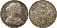 Doppeltaler 1861 Frankfurt-Stadt  Winz. Kratzer, vorzüglich +  185,00 EUR  zzgl. 4,00 EUR Versand