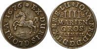 4 Mariengroschen 1676 Braunschweig-Calenberg-Hannover Johann Friedrich ... 70,00 EUR  zzgl. 4,00 EUR Versand