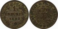 Kreuzer 1862 Frankfurt-Stadt  Sehr schön  8,00 EUR  zzgl. 4,00 EUR Versand