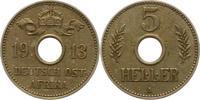 5 Heller 1913  A Deutsch Ostafrika  Winz. Schrötlingsfehler, sehr schön... 24,00 EUR  zzgl. 4,00 EUR Versand