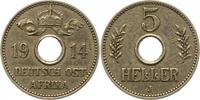 5 Heller 1914  J Deutsch Ostafrika  Sehr schön +  38,00 EUR  zzgl. 4,00 EUR Versand