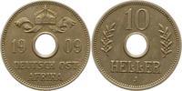 10 Heller 1909  J Deutsch Ostafrika  Vorzüglich  42,00 EUR  zzgl. 4,00 EUR Versand