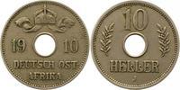 10 Heller 1910  J Deutsch Ostafrika  Sehr schön  30,00 EUR  zzgl. 4,00 EUR Versand