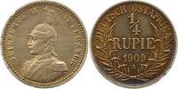 1/4 Rupie 1909  A Deutsch Ostafrika  Schöne Patina. Sehr schön - vorzüg... 60,00 EUR  zzgl. 4,00 EUR Versand