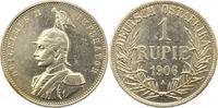 Rupie 1906  A Deutsch Ostafrika  Gereinigt, sehr schön +  75,00 EUR  zzgl. 4,00 EUR Versand
