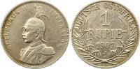 Rupie 1907  J Deutsch Ostafrika  Gereinigt, fast sehr schön  55,00 EUR  zzgl. 4,00 EUR Versand