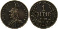 Rupie 1910  J Deutsch Ostafrika  Dunkle Patina. Sehr schön  50,00 EUR  zzgl. 4,00 EUR Versand