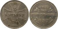 2 Kopeken 1916  J Oberbefehlshaber Ost  Vorzüglich  30,00 EUR  zzgl. 4,00 EUR Versand