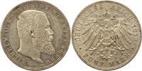 5 Mark 1913  F Württemberg Wilhelm II. 1891-1918. Fast vorzüglich  38,00 EUR  zzgl. 4,00 EUR Versand