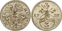 3 Pfennig 1737 Mühlhausen, Stadt  Vorzüglich - Stempelglanz  65,00 EUR  zzgl. 4,00 EUR Versand