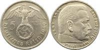 5 Mark 1939  A Drittes Reich  Winz. Kratzer, vorzüglich  14,00 EUR  zzgl. 4,00 EUR Versand