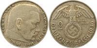 2 Mark 1936  J Drittes Reich  Sehr schön  85,00 EUR  zzgl. 4,00 EUR Versand