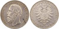 5 Mark 1875  G Baden Friedrich I. 1856-1907. Fast sehr schön  65,00 EUR  zzgl. 4,00 EUR Versand
