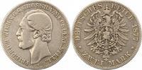 2 Mark 1877  A Mecklenburg-Strelitz Friedrich Wilhelm 1860-1904. Schön ... 225,00 EUR  zzgl. 4,00 EUR Versand