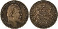 Taler 1867 Württemberg Karl 1864-1891. Sehr schön  100,00 EUR  zzgl. 4,00 EUR Versand