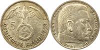 5 Mark 1939  F Drittes Reich  Sehr schön +  16,00 EUR  zzgl. 4,00 EUR Versand