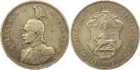 Rupie 1898 Deutsch Ostafrika  Winz. Randfehler, Kratzer, fast sehr schön  55,00 EUR  zzgl. 4,00 EUR Versand