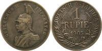 Rupie 1905  J Deutsch Ostafrika  Winz. Kratzer, sehr schön  50,00 EUR  zzgl. 4,00 EUR Versand