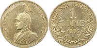 Rupie 1906  A Deutsch Ostafrika  Gereinigt, fast sehr schön  45,00 EUR  zzgl. 4,00 EUR Versand