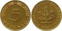 5 Pfennig 1967  G Münzen der Bundesrepublik Deutschland Mark 1945-2001.... 9,00 EUR  zzgl. 4,00 EUR Versand