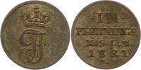 3 Pfennig 1831 Mecklenburg-Schwerin Friedrich Franz I. 1785-1837. Sehr ... 20,00 EUR  zzgl. 4,00 EUR Versand