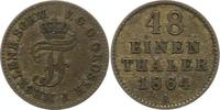 1/48 Taler 1864  A Mecklenburg-Schwerin Friedrich Franz II. 1842-1883. ... 5,00 EUR  zzgl. 4,00 EUR Versand