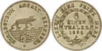 1/6 Ausbeutetaler 1856  A Anhalt-Bernburg Alexander Carl 1834-1863. Vor... 30,00 EUR  zzgl. 4,00 EUR Versand