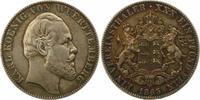 Taler 1865 Württemberg Karl 1864-1891. Schöne Patina. Fast vorzüglich  395,00 EUR kostenloser Versand