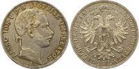 Gulden 1861  A Haus Habsburg Franz Joseph I. 1848-1916. Fast vorzüglich  20,00 EUR  zzgl. 4,00 EUR Versand