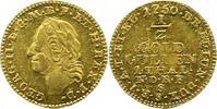 1/2 Goldgulden 1 Taler Gold 1750  S Braunschweig-Calenberg-Hannover Geo... 725,00 EUR kostenloser Versand