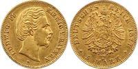 5 Mark Gold 1877  D Bayern Ludwig II. 1864-1886. Sehr schön +  475,00 EUR kostenloser Versand