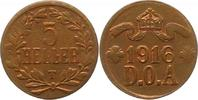 5 Heller 1916  T Deutsch Ostafrika  Sehr schön +  75,00 EUR  zzgl. 4,00 EUR Versand